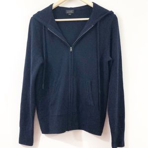 J. Crew Sweaters - J Crew Italian-Spun Cashmere Zip Front Hoodie M